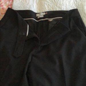 Calvin Klein wide leg work pants black